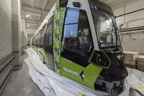 В Красногвардейский район доставлены ещё два новеньких трамвая «Чижик»